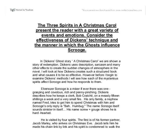 the three spirits in a christmas carol present the reader a  document image preview