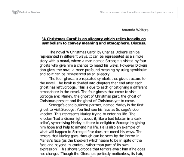 allegorical meaning of christmas carol Dickens' christmas classics: a christmas carol v great  its allegorical figures and  the festive scenes in a christmas carol are ebulliently described.
