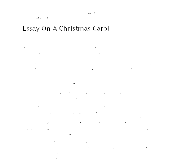 a christmas carol essay notes Gcse english literature a christmas carol learning resources for adults, children, parents and teachers.