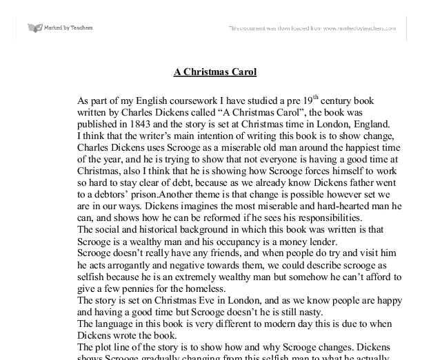 Summary and Analysis of 'A Christmas Carol' by Charles Dickens