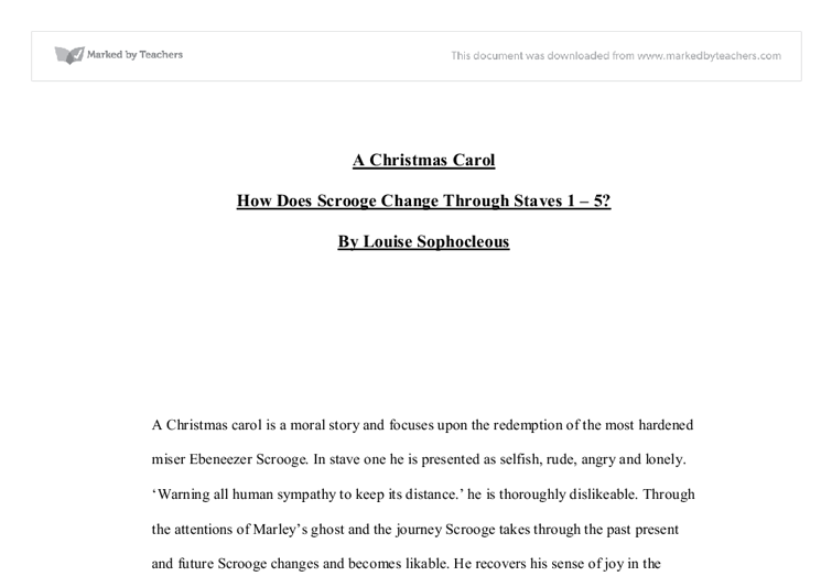a christmas carol how does scrooge change through staves  document image preview