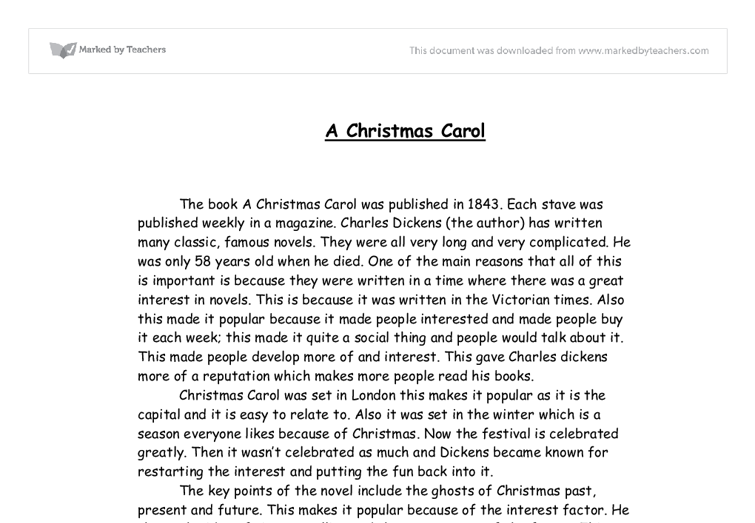 a christmas carol by charles dickens essay 'generosity is not just about the giving of money' how is this idea explored in a  christmas carol charles dickens' allegorical tale 'a christmas carol', explores.