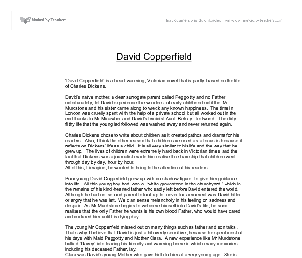david copperfield by charles dickens essay
