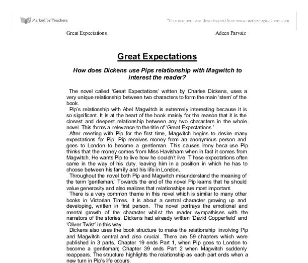 great expectations summary essay