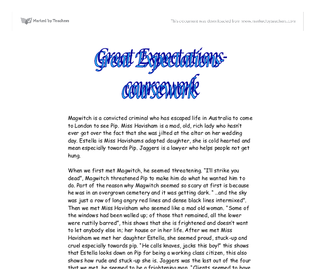 great expectations english essay The intricate plot of great expectations surrounds the life of an orphaned boy, pip, who is brought up 'by hand' by his rather cruel sister and.