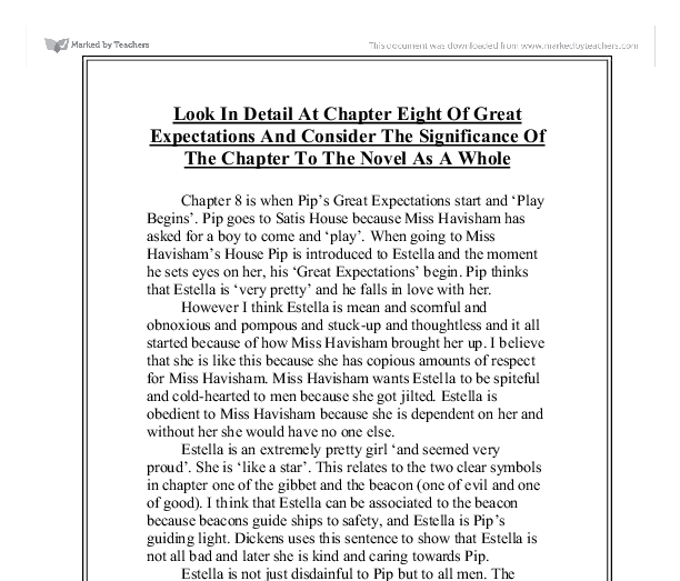discuss the effectiveness of the opening chapter of great expectations essay Understanding culture, social organization, and leadership to understanding culture, social organization, and the informant may have expectations about being.