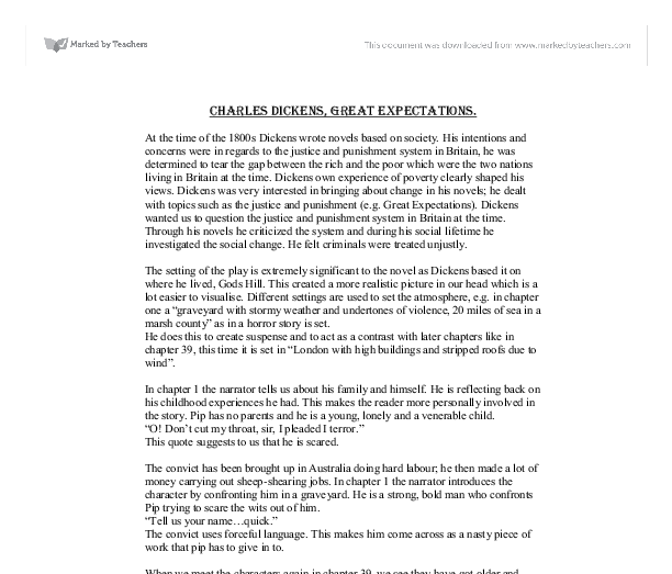 Essay on charles dickens great expectations