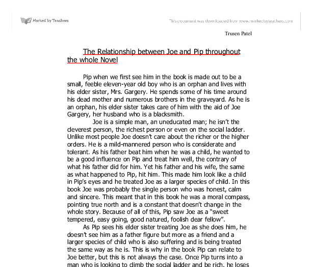 pip and joe relationship essay