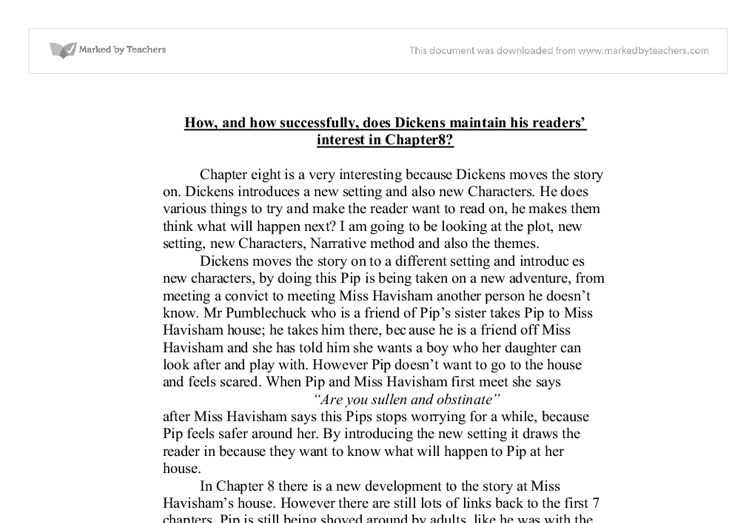 "chapter 1 of great expectations essay How dickens creates tension in chapter one of great expectations how dickens creates tension in chapter one of ""great expectations"" essay from the first."
