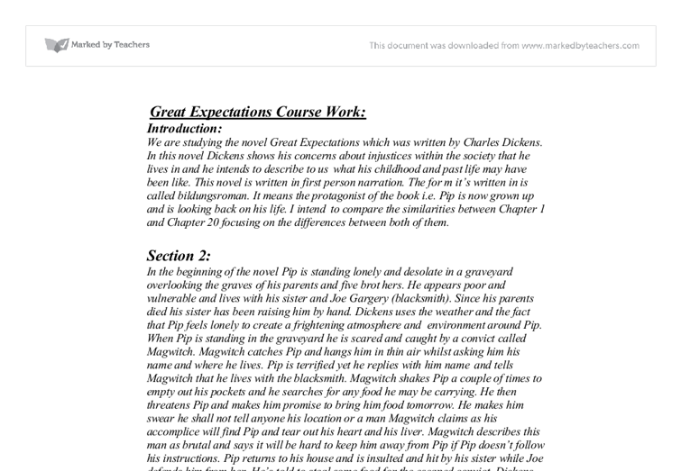 an analysis of great expectations Great expection chapter analysis read the following selections from great expectations carefully and critically write an analysis of each focusing on the effect.