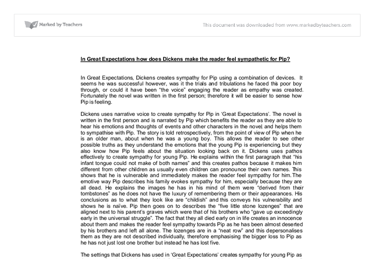 english essays on great expectations English language (6,503) english pip's character change discuss pip's character and how it develops when he grows older related gcse great expectations essays.