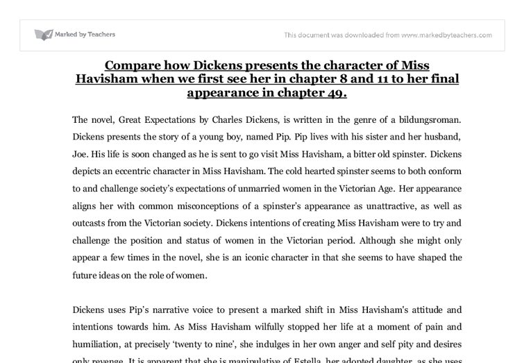 miss havisham gcse english marked by teachers com document image preview