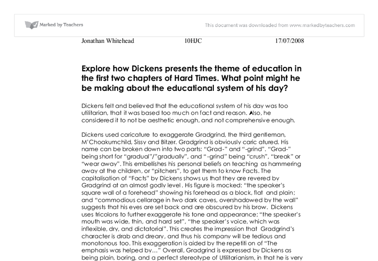 Hard times education system essay