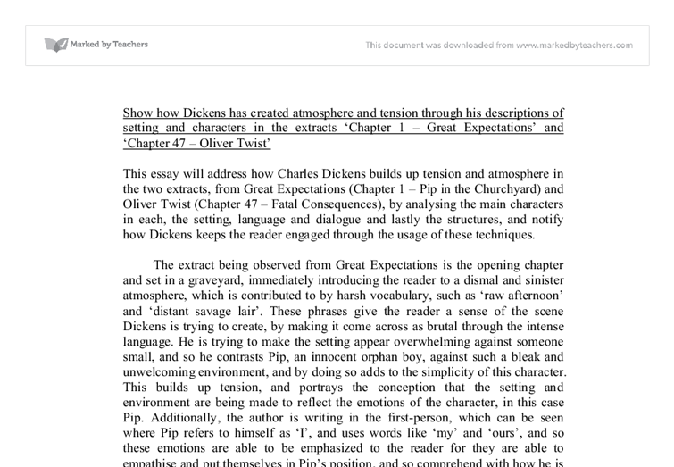 show how dickens has created atmosphere and tension through his  document image preview