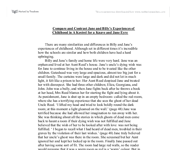 jane eyre compare and contrast essay jane eyre thesis statement