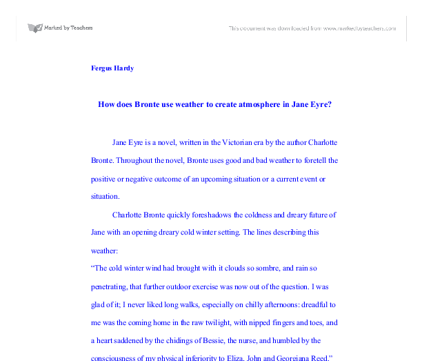 Jane eyre essay thesis