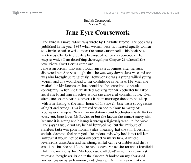jane eyre thesis statement essay