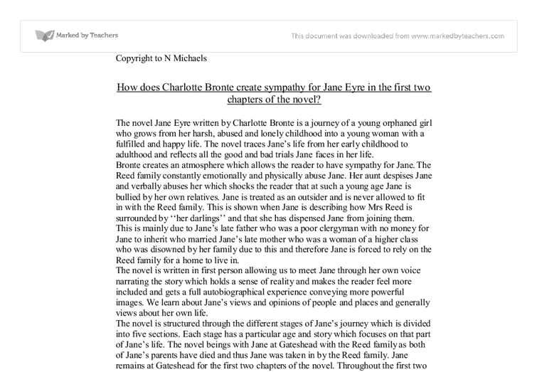 how does charlotte bronte create sympathy for jane eyre This lesson presents an overview of the first chapter of charlotte bronte's ''jane eyre,'' a victorian  jane eyre chapter 1 summary  further evokes sympathy for.