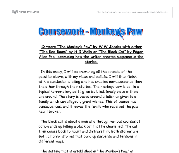 monkey vertisements paw brief summary composition papers