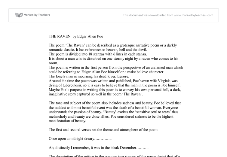 Current Issue Topics For Essays The Raven Edgar Allan Poe Summary And Critical Analysis Essay Edgar Allan  Poe The Raven American Government Essay Topics also Hinduism Essay Assignment Service  Alfagroupinvestru Edgar Allen Poe The Raven  Inherit The Wind Essay