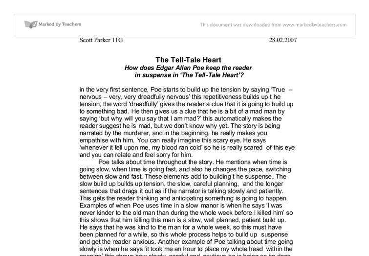 tell tale heart literary analysis essay schizophrenia