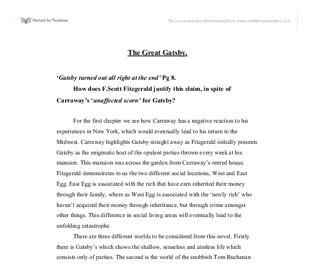 anlaysis of ominous signs in the great gatsby essay This the great gatsby resource for teachers provides lesson plans in which students create newspapers, recording significant events, and attitudes of the related to the great gatsby students analyze thomas jefferson's original rough draught of the declaration of independence, compare its text to.