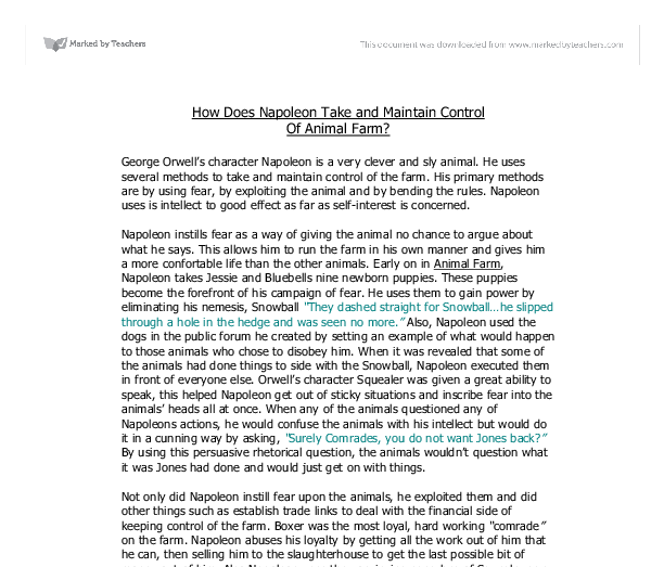 literature essay on animal farm by george orwell Home → sparknotes → literature study guides → animal farm animal farm george orwell table of contents study questions & essay topics.
