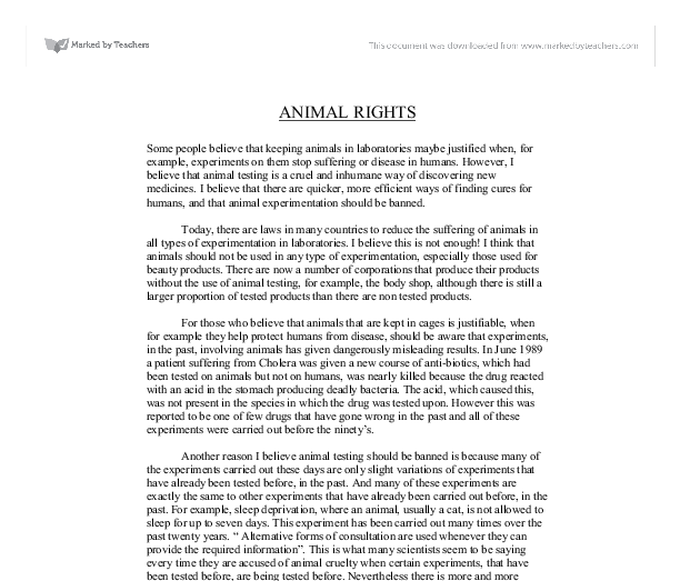 Animal rights papers