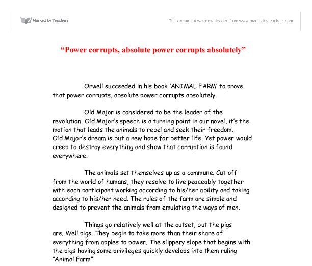 power corrupts absolute power corrupts absolutely gcse  document image preview