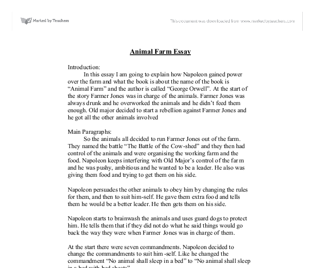 animal farm explain how napoleon gained power over the farm and  document image preview