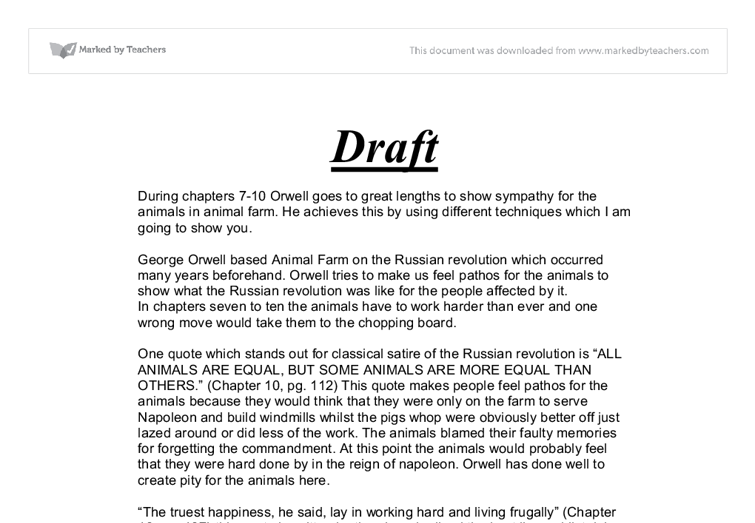 animal farm gcse english marked by teachers com document image preview