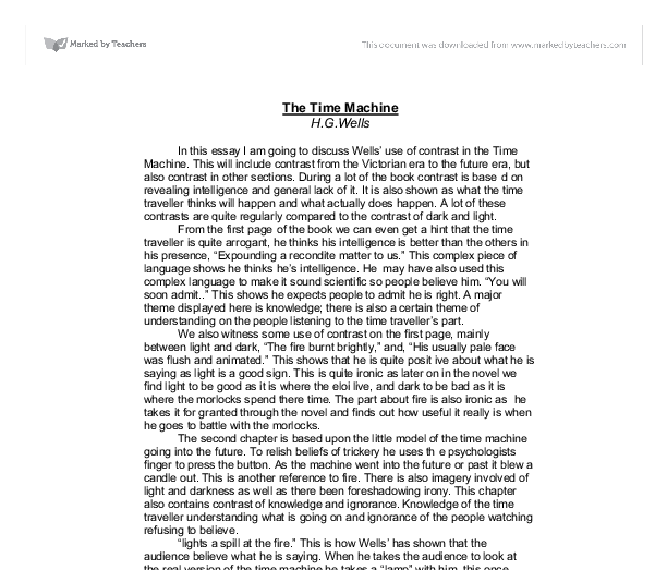 essay on time machine by h.g. wells