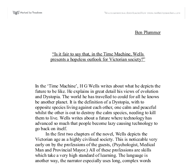 The time machine h g wells essay