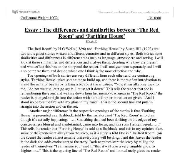 the red room essay setting The Red Room Essay