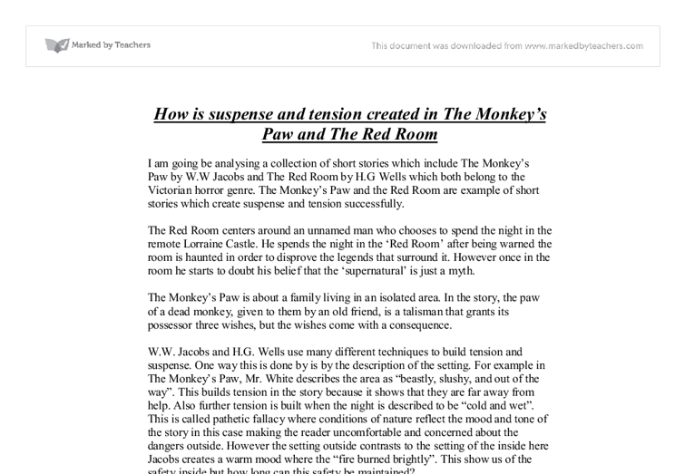 a literary analysis of the mystery in the monkeys paw by w w jacobs 17072013  short story review: the monkey's paw by ww jacobs  this will be an analysis with  one of the most mind-boggling literary questions to cross.