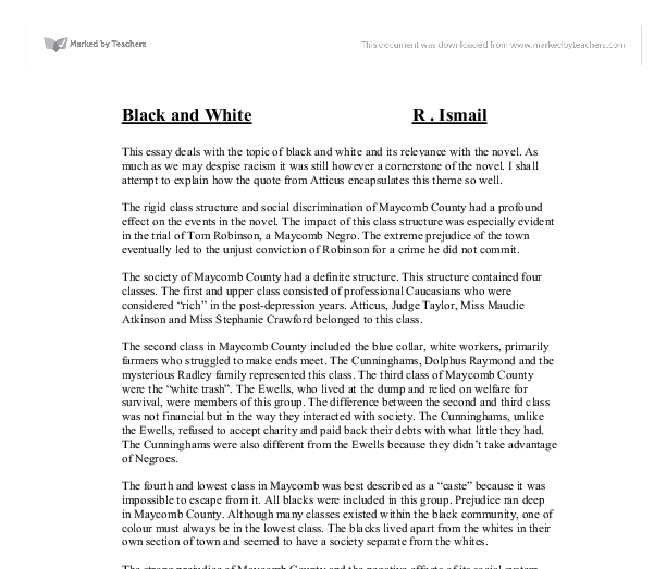 th rigid structure and social stratification in harper lees to kill a mockingbird Essay writing guide learn the art of brilliant essay writing with help from our teachers learn more.
