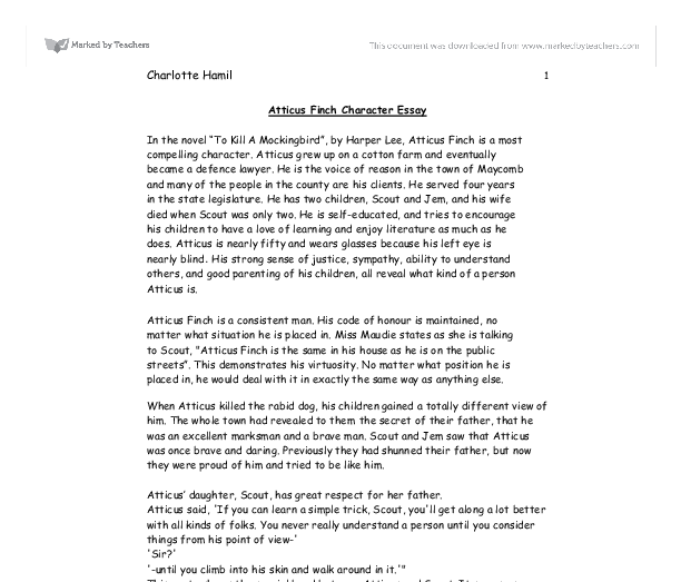 atticus finch persuasive essay Essay on atticus finch: free examples of essays, research and term papers examples of atticus finch essay topics, questions and thesis satatements.