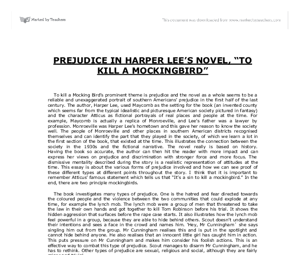 racism education and humor in harper lees to kill a mockingbird Racism and discrimination as the theme in to kill a mockingbird to kill a mockingbird written by harper lee is a pulitzer prize winning novel, that offers a.