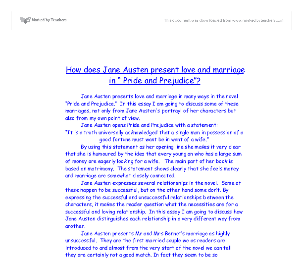 Pride and Prejudice: Literary Criticism - Homework Help