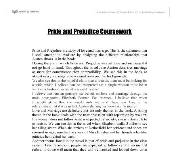 pride and prejudice igcse essay questions