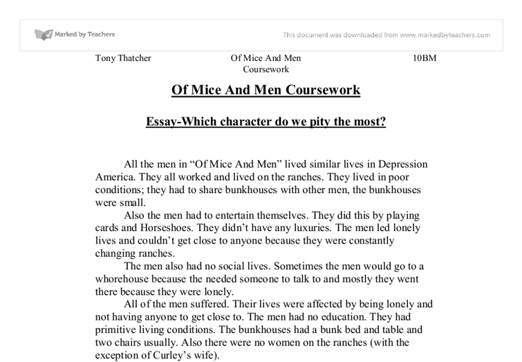 of mice and men typicallity comparison essay