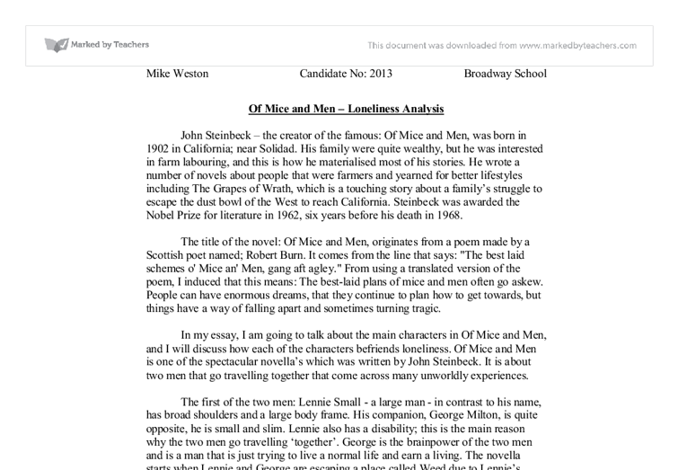 Adventures Of Huckleberry Finn Essay Document Image Preview Descriptive Essay Samples also Model Essays For Students Analysis Of Loneliness In Steinbecks Of Mice And Men  Gcse English  Law Essay Uk