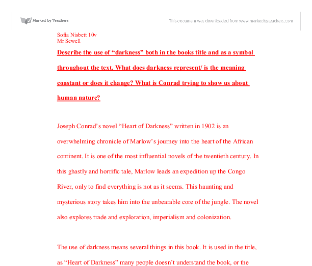 journey into the heart of darkness essay