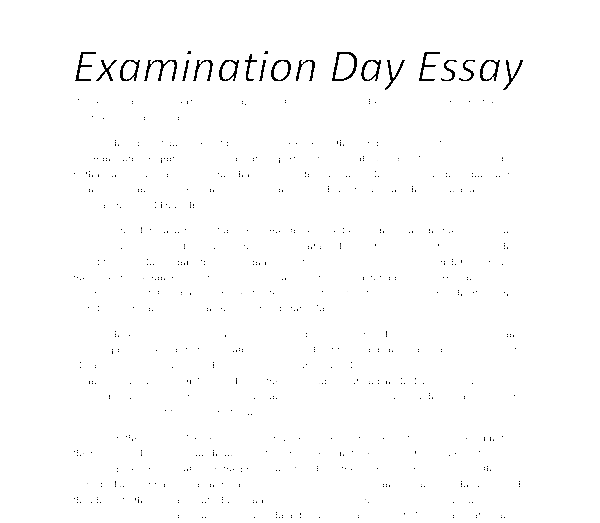 Essays on examination