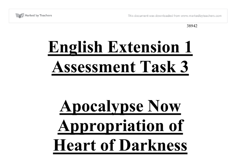 "essay on heart of darkness and apocalypse now The book ""heart of darkness"" and the movie ""apocalypse now"" are two works dealing with deep issues of evil (beyond imperialism, because the evil of imperialism has a root."