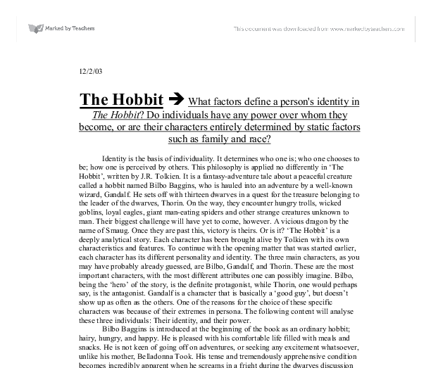 The Hobbit Critical Essays