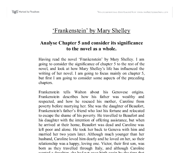 who was more of a monster frankenstein or his creation essay This free english literature essay on essay: frankenstein by mary monster is at once more the second creation that was going to be his.