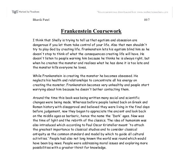 mary shelleys frankenstein 8 essay Essays on frankenstein by mary shelley examine the story, also known as the   victor eventually creates an eight-foot-tall monster, with yellow eyes and skin.