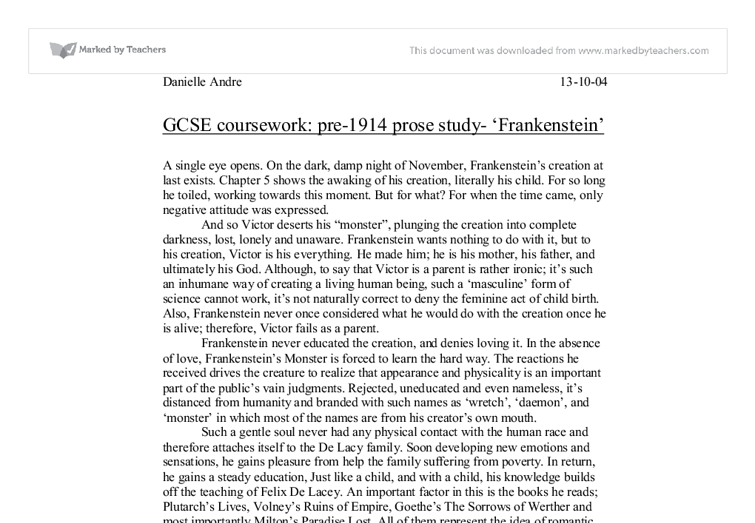 introduction to frankenstein coursework 1 gre awa model essays topics in the following list may appear in your actual test you should become familiar with this list before you take the gre-awa.
