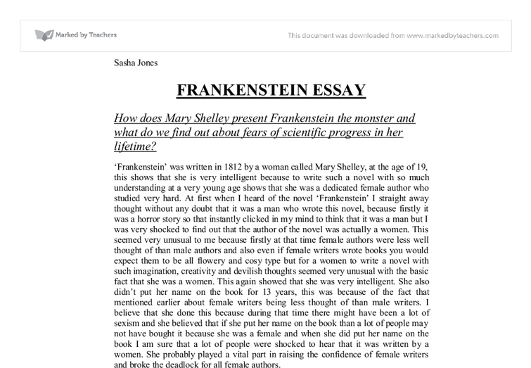 critical essays of frankenstein